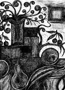Ασπρόμαυρη νεκρή φύση της Βάσως Κ. Ηλιάδη