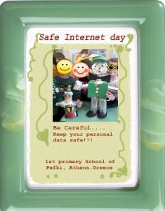 "We celerbate the ""Safe Internet day""! Γιορτάζουμε την ""Hμέρα Ασφαλούς Διαδικτύου""!  1 δημοτικό Σχολείο Πεύκης, Αττικής."