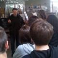 στο εργαστήριο Ζωγραφικής με τον Ζωγράφο Στέφανο Τσιόδουλο