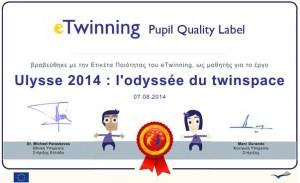 pupil Quality label, Ulysse 2014