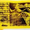 χαρακτικό έργο, αφιέρωμα στον Β. Καζάκο