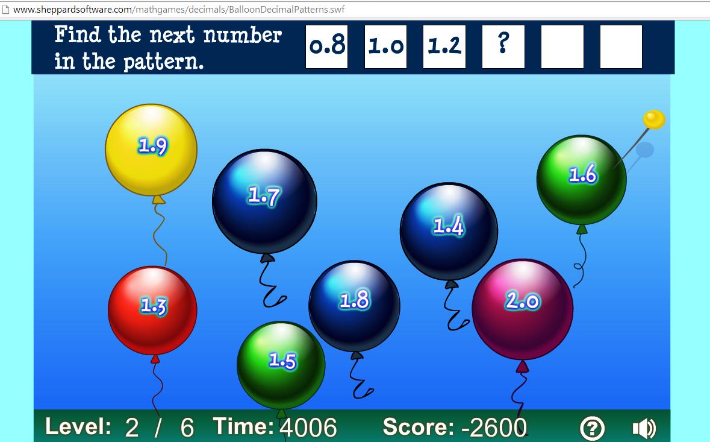 Βρες το μοτίβο και σκάσε με την καρφίτσα τα μπαλόνια,που  ακολουθούν με τη σωστή σειρά!!!