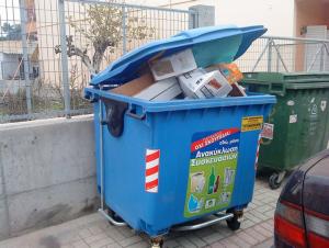 δίκτυο ανακύκλωσης μπλε κάδων