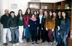 17-03-2015: Η ομάδα έρευνας για το Πολυτεχνείο με τον κ. Γιάννη Γιαννακόπουλο.