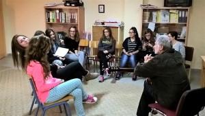Ο Γιάννης Ψειμάδας στην πρώτη συνάντηση με τα νεφελώδη μέλη της ομάδας (14-11-2015)
