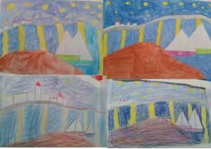 Έναστρη νύχτα πάνω από το Ροδανό