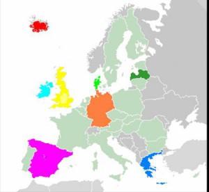 Χάρτης με τις υποψήφιες χώρες για να συμμετέχουν στο Comenius (από την Οικονόμου Θεοδώρα)