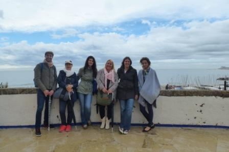 The coordinators: Rodrigo, Tanja, Mariana, Stami, Heike, Patrycja