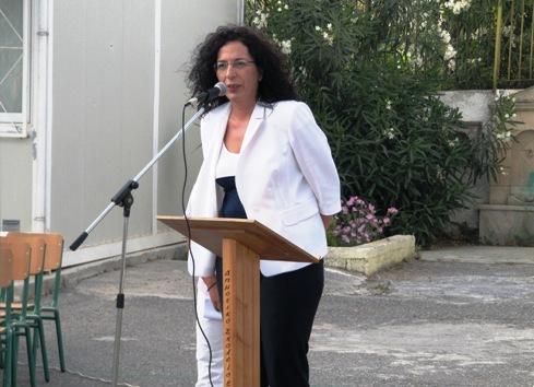 Η Σύμβουλος της 7ης Σχολικής Περιφέρειας Νομού Ηρακλείου, κ. Μαρία Καδιανάκη.