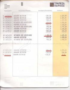Βιβλιάριο Τραπεζικού Λογαριασμού