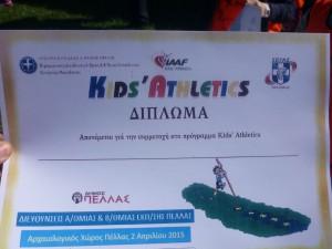 Το αναμνηστικό Δίπλωμα των μαθητών που συμμετείχαν στο Πρόγραμμα