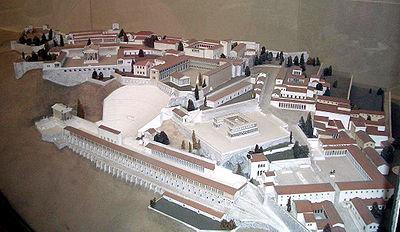 «Η Ακρόπολη της Περγάμου». Μακέτα που αναπαριστά την Ακρόπολη κατά τον 2ο αι. μ.Χ.