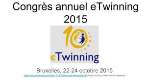 Congres annuel eTwinning 2015