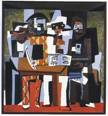 Οι+τρεις+μουσικοί,+Pablo+Picasso