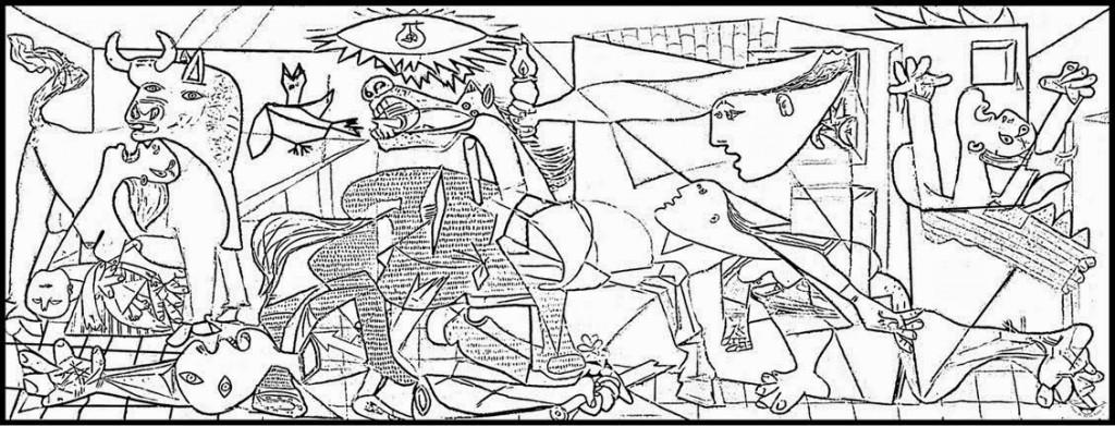 ΓΚΕΡΝΙΚΑ - Ο πίνακας σε σκίτσο