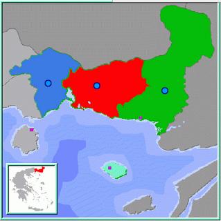 Νομοί της Θράκης  Thrace Prefectures