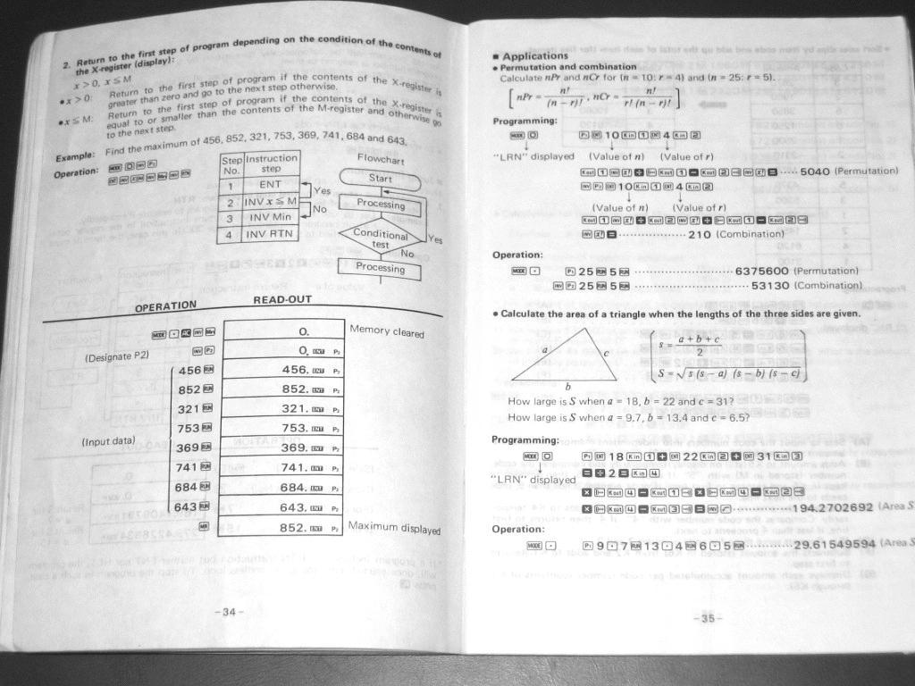 Μια σελίδα από το manual που αναφέρεται στον προγραμματισμό του