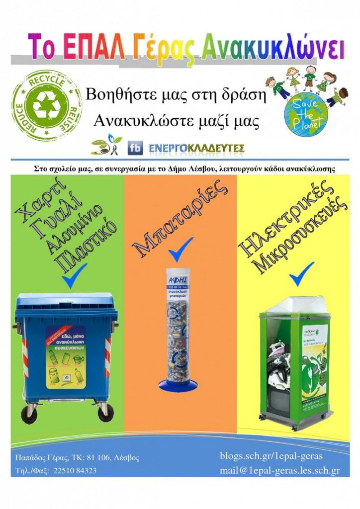 Αφίσα Ανακύκλωσης