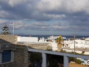 Το λιμάνι όπως φαίνεται από το σχολείο μας  , πρωί 27ης Οκτωβρίου 2017