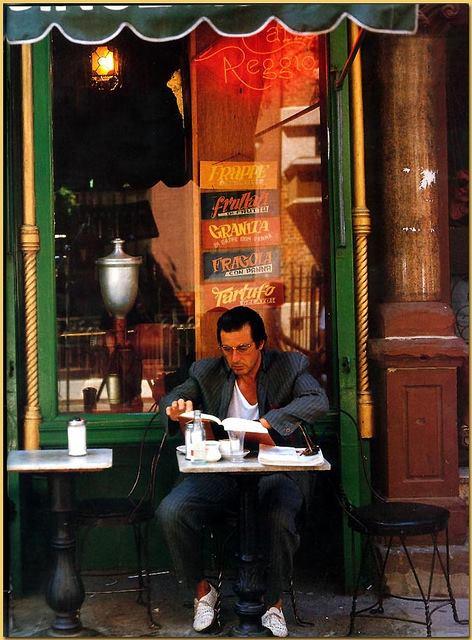 Al Pacino at Caffe Reggio on MacDougal Street, NYC 1979