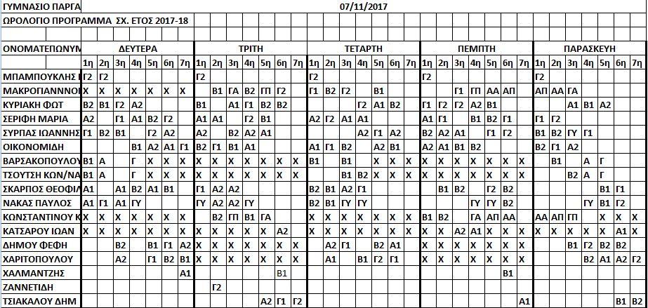 ωρολόγιο 7-11-17