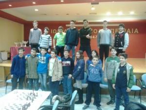 Οι Μαθητές της Σκακιστικής Ομάδας του Ζαννείου ΠΠ Γυμνασίου Πειραιά στο 1ο Πρωτάθλημα ΠΠ Γυμνασίων Αττικής