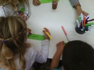 Γράφουμε τα ονόματά μας για το κουτάκι του βοηθού!