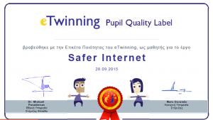 etwinning quality label pupil