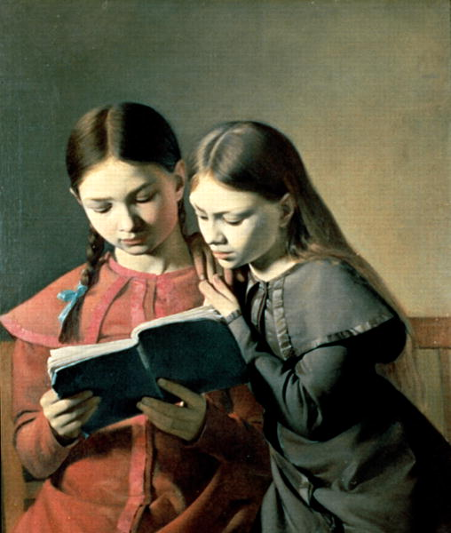 The-Artist's-Sisters-Signe-and-Henriette-Reading-a-Book-1826-xx-Carl-Christian-Constantin-Hansen