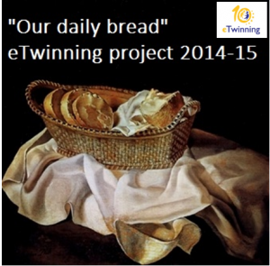 logo eTwinning project 2014-15 Our daily bread