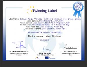 Συμμετείχαν 3 σχολεία με 6 καθηγητές από 2 Ευρωπαϊκές χώρες