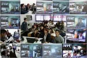4η Τηλεδιάσκεψη με το Ιταλικό σχολείο από την Aversa, τη Βουλγαρία και την Πολωνία