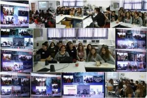 1η Τηλεδιάσκεψη μεταξύ των εταιρικών σχολείων