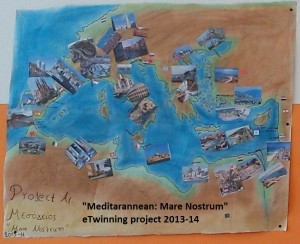 logo eTwinning project 2013-14 Mediterranean Mare Nostrum Σχέδιο Κερασίτη Κ., Γκόρου Μ.