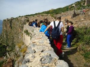 Η Ομάδα Περιβαλλοντικής Α Τάξης στο κάστρο της Μονεμβασιάς