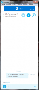 Η Τηλεδιάσκεψη ΕΥΖΗΝ έγινε μέσω Skype