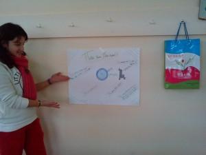 Καμπάνια για τη συγκέντρωση καπακιών στο Γυμνάσιο. Αφίσα Ελισάβετ Μακρύγιαννη