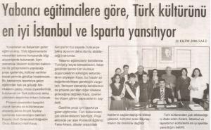 Δημοσίευση της συνάντησης στον τοπικό Τουρκικό Τύπο