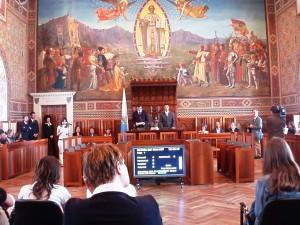 Στο San Marino, στο Hall of the Council (located in the Palazzo Pubblico) 2007
