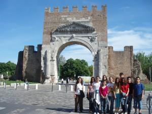 Στην Αψίδα του Αυγούστου στο Rimini