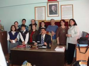 Στο γραφείο του Διευθυντή στην Isparta, Τουρκία 2006