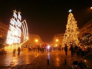 Χριστουγεννιάτικη ατμόσφαιρα στην Αριστοτέλους