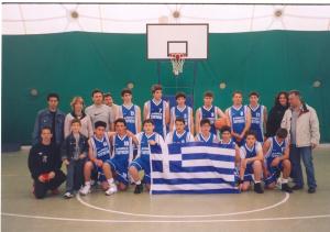 Pesaro-Μετά την πρώτη μας νίκη 91-42 με Νίκο Παππά στο ADRIATICA CUP 2005