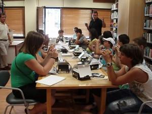 24.06.2008 Σύντομη ενημέρωση στη σχολική βιβλιοθήκη του Γυμνασίου