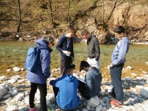 Εργασίες πεδίου στον Εύηνο ποταμό