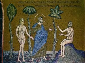Αδάμ και Εύα Ψηφιδωτό από τον Καθεδρικό Ναό του Μονρεάλε της Σικελίας, 13ος αι.