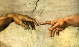 Λεπτομέρεια από τον πίνακα η δημιουργία του ανθρώπου, του Michaelangelo