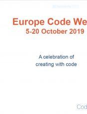 Eυρωπαϊκή Εβδομάδα Κώδικα 2019