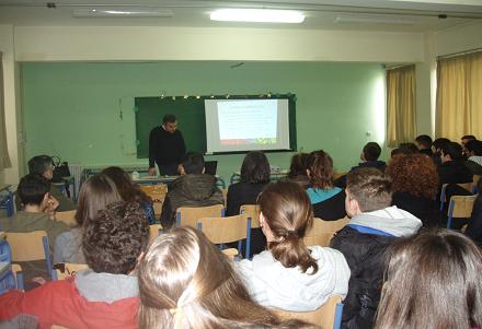 ομιλία –συζήτηση με ομιλητή τον επίκουρο καθηγητή του τμήματος ΤΕΕΑΠΗ και αντιπρόεδρο Ευρώπης στην Παγκόσμια Οργάνωση Προσχολικής Αγωγής κ. Στελάκη Νεκτάριο