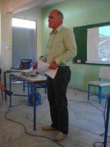 Ο Συντονιστής των projects, κ. Παυλάκης, Ι.